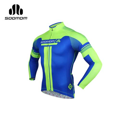 (男) SOOMOM 速盟 佐羅長車衣-自行車 單車 螢光綠藍