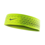 NIKE DRI-FIT 360反光頭帶 2.0-慢跑 路跑 瑜珈 螢光黃銀 F