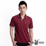 【遊遍天下】MIT台灣製男款抗UV涼爽吸濕排汗機能POLO衫S075磚紅