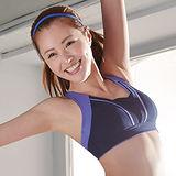 【蕾黛絲】動氧Bra-吸震背心運動內衣 C-E罩杯(深動藍)