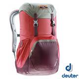 【德國 Deuter】WALKER 20 輕量透氣休閒旅遊背包20L/Airstripes通風背負系統.人體工學的柔軟肩帶 3810617 紅/紫紅