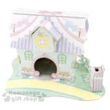 〔小禮堂嬰幼館〕蹦蹦兔 3D立體模型組合屋玩具《粉.緞帶玫瑰房屋》適合3歲以上孩童