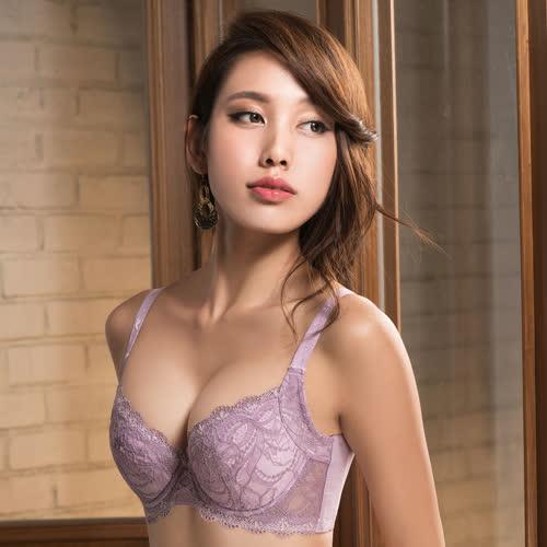【摩奇X】挺魔力大V背D-F罩杯內衣(粉膚紫)