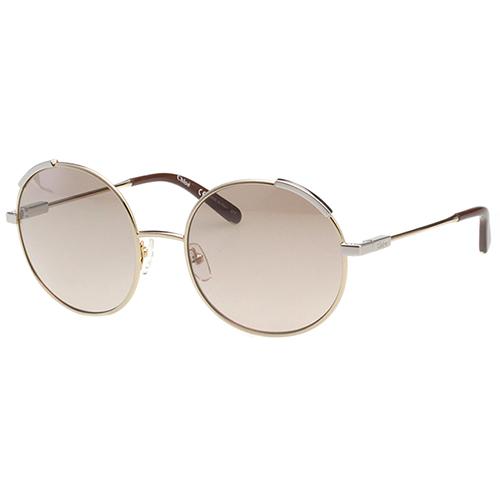 CHLOE太陽眼鏡 水銀鏡面 圓框 (金+銀色框)CE117S