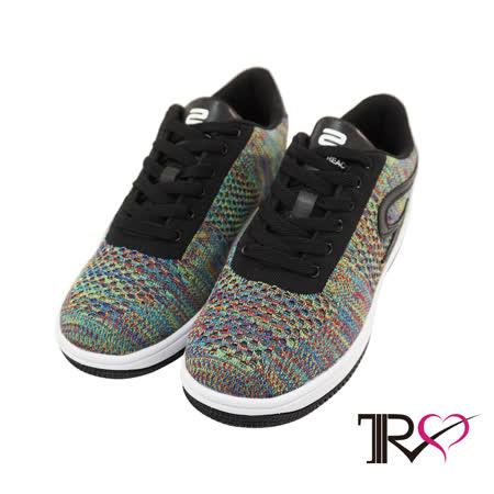 【TRS】飛線編織時尚內增高六公分休閒女鞋- 彩色(7100-0021)