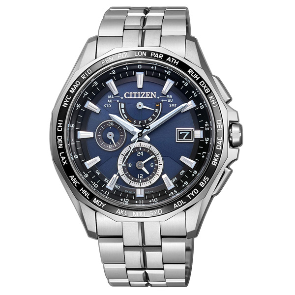 CITIZEN Eco-Drive 航空地堡時尚電波腕錶-AT9090-53L