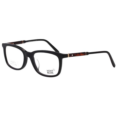 萬寶龍MONTBLANC 光學眼鏡 (黑框+琥珀腳) MB638F