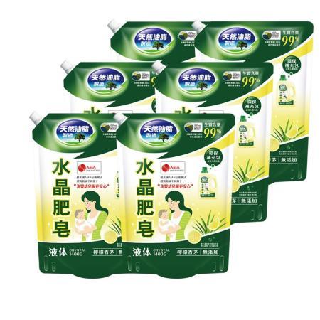 南僑水晶肥皂 洗衣液体補充包6包