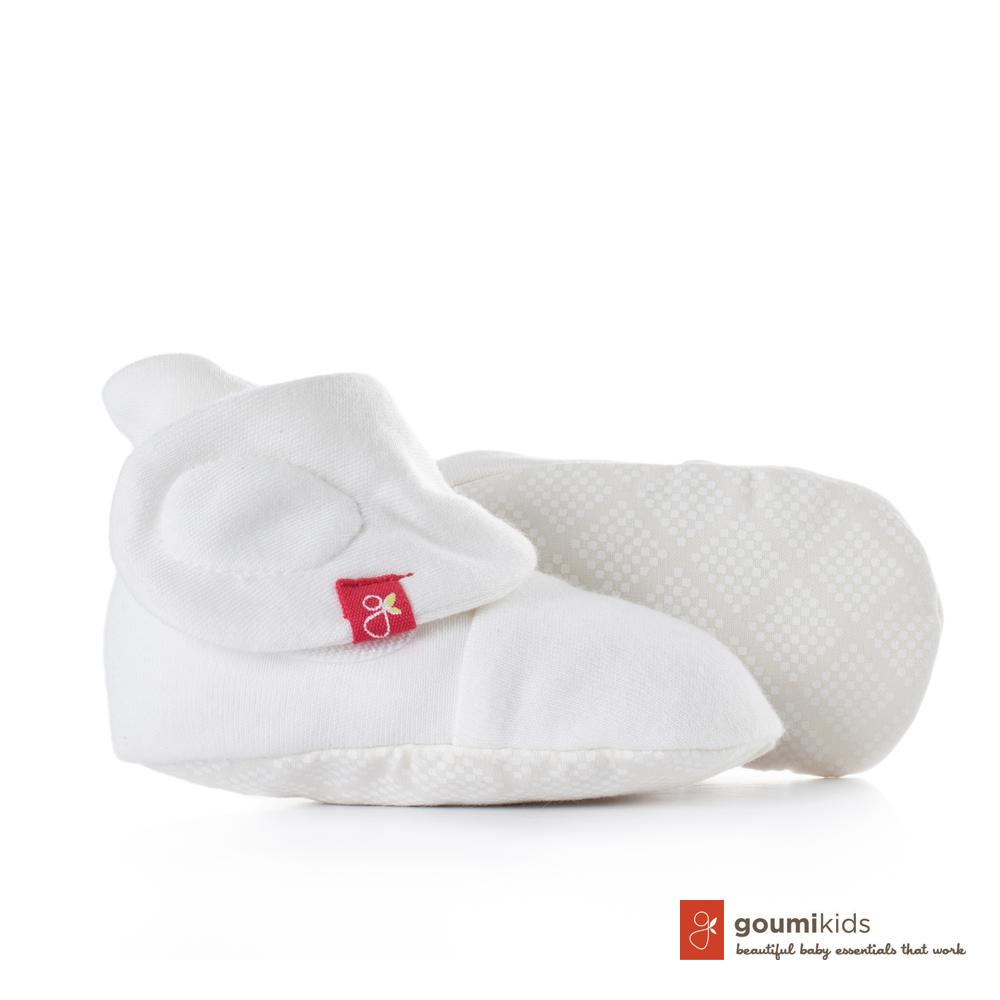 美國 GOUMIKIDS 有機棉嬰兒腳套 (菱形點點)