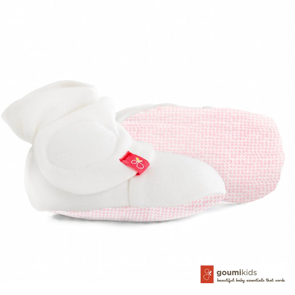 美國 GOUMIKIDS 有機棉嬰兒腳套 (點點-粉色)