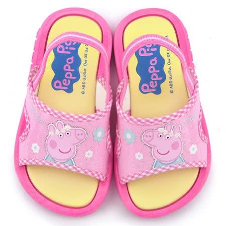 童鞋城堡-粉紅豬小妹 佩佩豬 中童 戶外拖鞋PG0010-粉