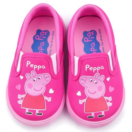 童鞋城堡-粉紅豬小妹 佩佩豬 中童 愛心休閒鞋PG8512粉