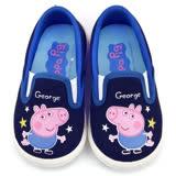 童鞋城堡-童鞋城堡-粉紅豬小妹 喬治 中童 星星休閒鞋PG8512藍