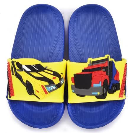 童鞋城堡-變形金剛 中童 超輕量造型款拖鞋TF10012-藍