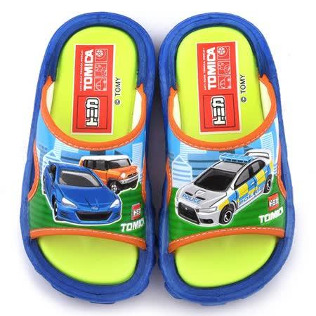 童鞋城堡-Tomica多美小汽車 中童 戶外拖鞋TM0896-藍