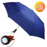 (大團購)【2mm】LED極光安心自動開收傘 (寶藍色)
