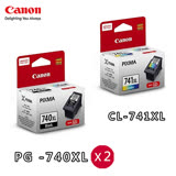 CANON PG740XL+CL741XL 原廠高容量墨水匣組合(2黑+1彩)