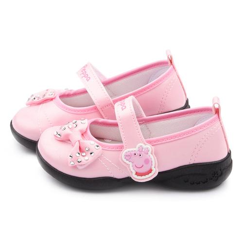 童鞋城堡-粉紅豬小妹 佩佩豬 中童 水鑽甜美公主鞋PG8517-粉