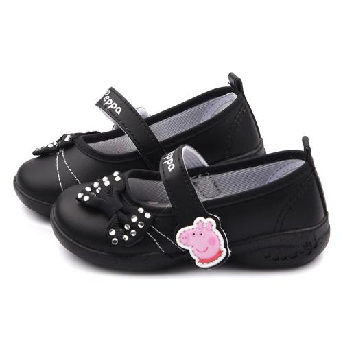 童鞋城堡-粉紅豬小妹 佩佩豬 中童 水鑽甜美公主鞋PG8517-黑