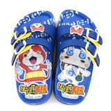 童鞋城堡-妖怪手表 中童 不對稱中底軟木風格拖鞋YW2130-藍