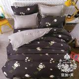 【AGAPE亞加‧貝】《MIT台灣製-典雅碎花》舒柔棉單人3.5x6.2尺三件式薄被套床包組