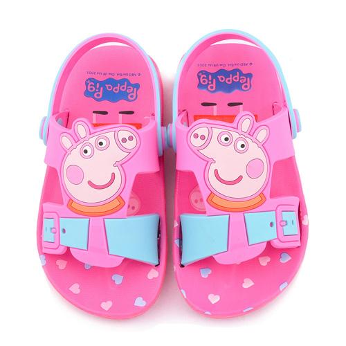 童鞋城堡-粉紅豬小妹 佩佩豬 中童 超輕量造型涼鞋PG0052-粉