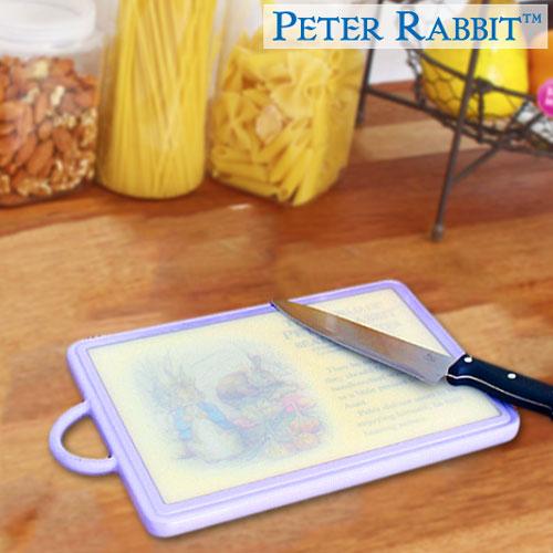 【クロワッサン科羅沙】Peter Rabbit~ 經典比得兔角型抗菌砧板(M)紫NF-212062
