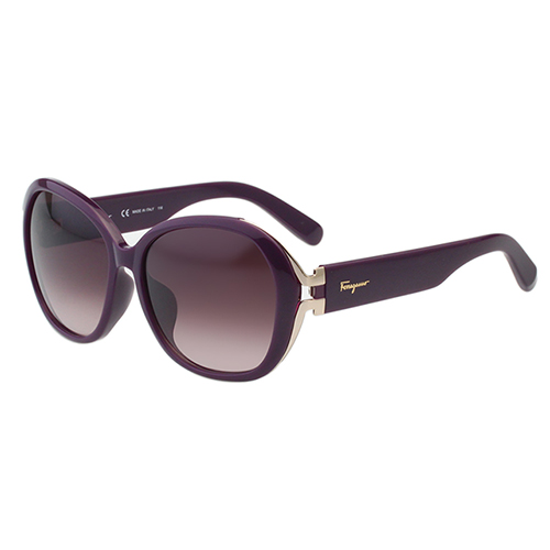 Salvatore Ferragamo 復古圓框 太陽眼鏡-紫色