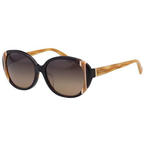 Salvatore Ferragamo太陽眼鏡- 優雅圓框(琥珀色)