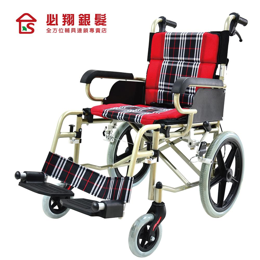 【必翔銀髮】輕便看護輪椅 PH-164A(未滅菌)