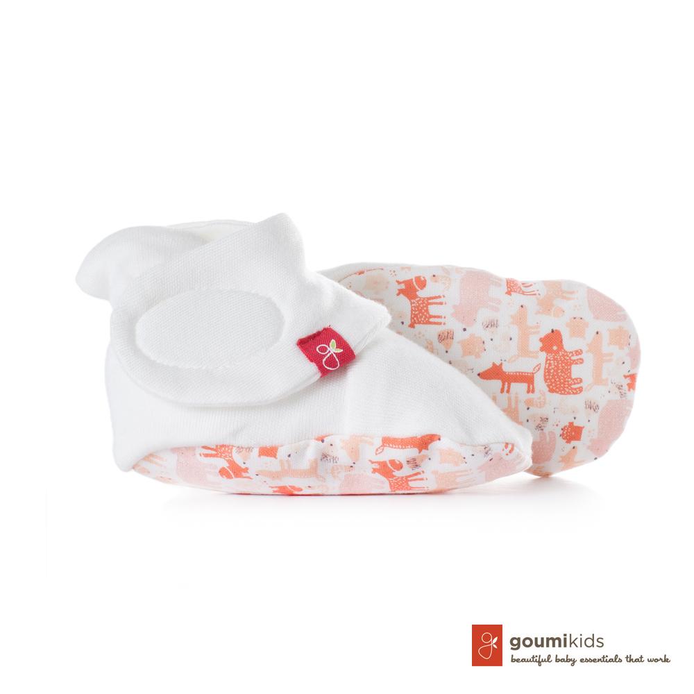 美國 GOUMIKIDS 有機棉嬰兒腳套 (叢林動物-橘色)