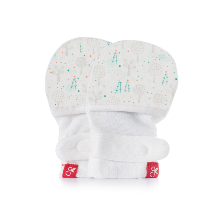 美國 GOUMIKIDS 有機棉嬰兒手套 (魔法森林-淺綠)