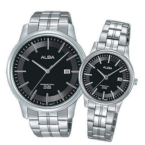 ALBA 灰色地帶 簡約時尚情侶對錶/ 女VJ22-X257D/ 男VJ42-X226D