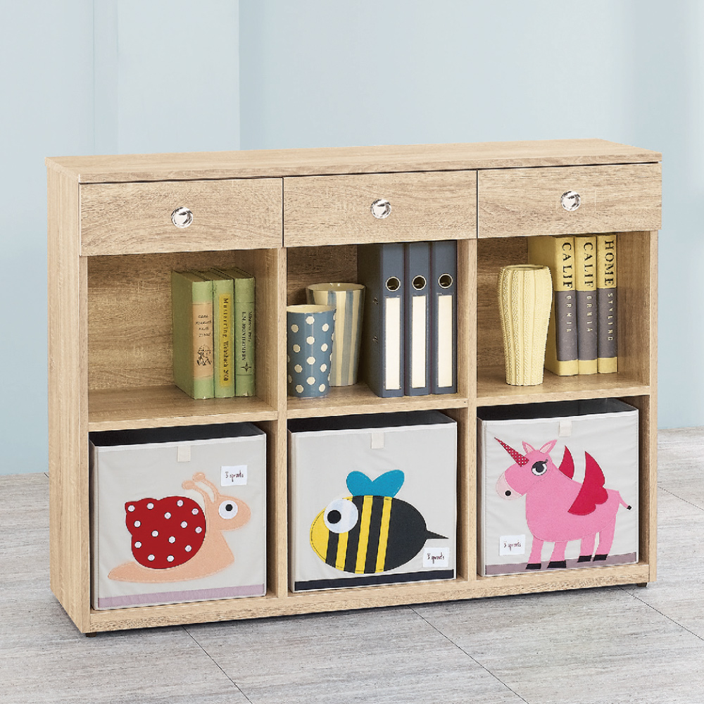 AS 愛寶耐磨橡木4尺原木色多功能置物櫃