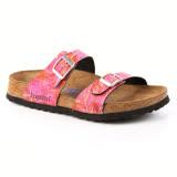 勃肯Papillio 394693。SYDNEY雪梨 二條拖鞋(粉紅棕梠葉)