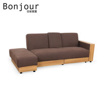 【日安家居】Palais帕蕾絲多功能布沙發/沙發床 3人座+腳凳