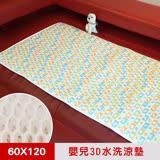 【凱蕾絲帝】3D挑高透氣《可水洗》循環散熱繽紛60x120cm嬰兒床墊-水果拼盤