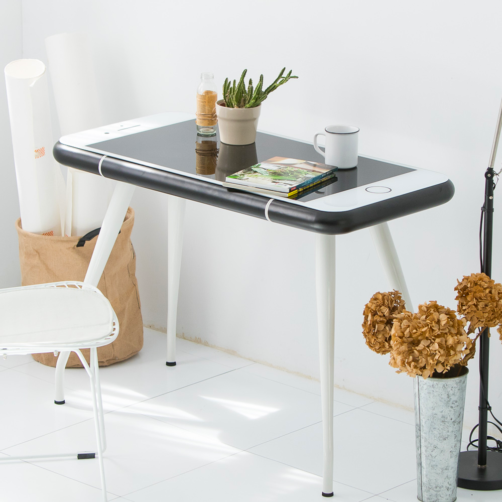 Style-時尚造型強化玻璃工作書桌