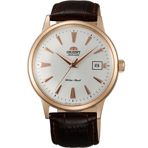 ORIENT 東方錶 DATEⅡ 復古皮帶男士機械腕錶/40mm/FAC00002W