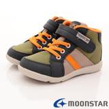 日本Carrot機能童鞋-穩定護踝機能款-KC65A3綠-(15cm-20cm)