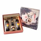 【源發號手工醬油】精選伴手禮盒1盒(每盒包含:滷香四溢2瓶+缸底蔭油1瓶+烏豆鼓1瓶)(免運)