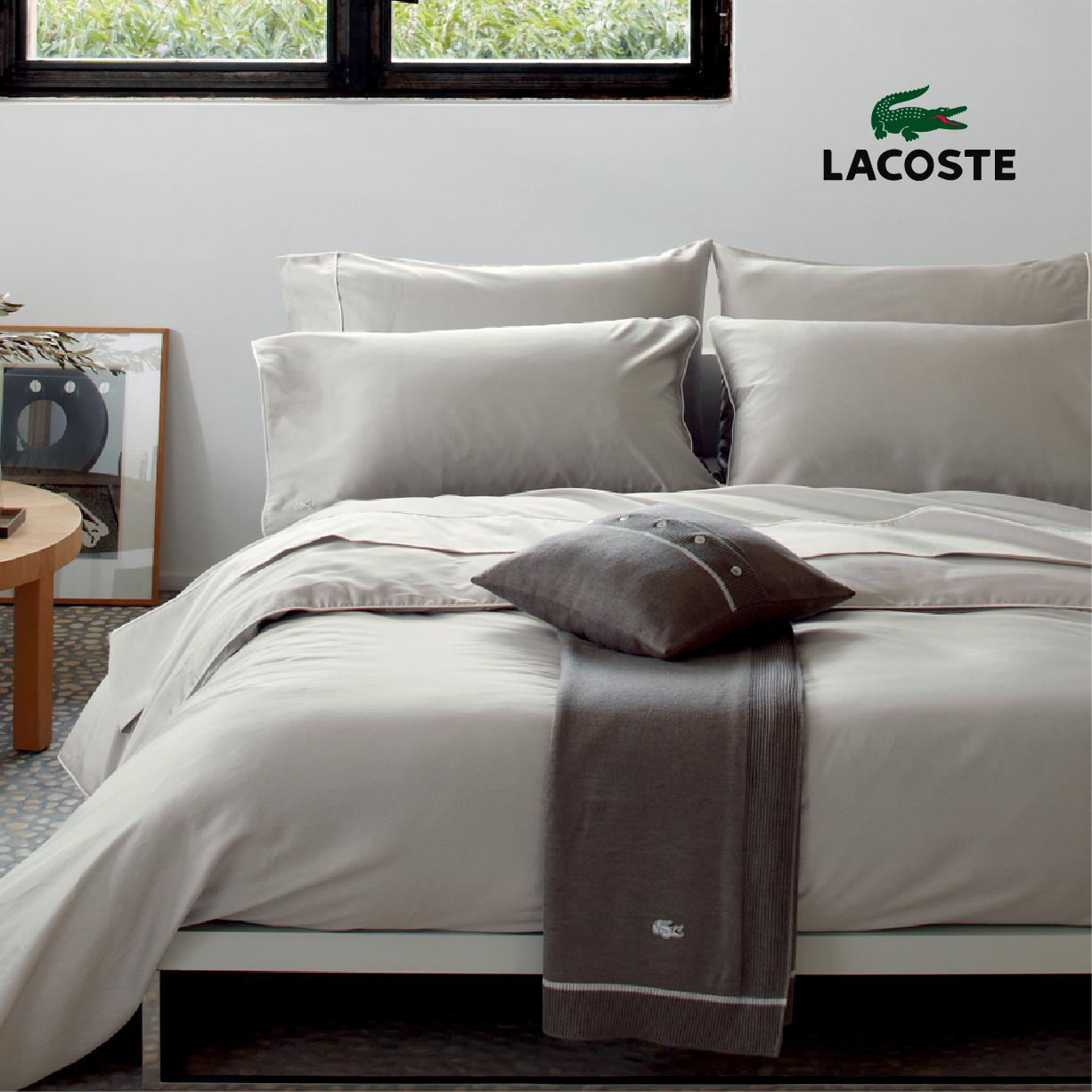 【LACOSTE】法國原裝加大床組PIQUE