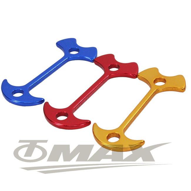 omax鋁合金魚骨地釘-加長版-8入(顏色隨機)
