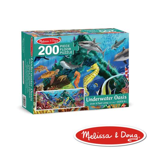 美國瑪莉莎 Melissa & Doug 大型地板拼圖 - 海洋生物  200 片
