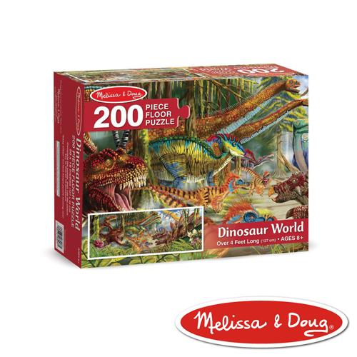 美國瑪莉莎 Melissa & Doug 大型地板拼圖 - 恐龍世界 200 片