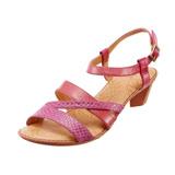 【Kimo德國手工氣墊鞋】春夏低跟舒適交叉涼鞋(嫩粉紅K14SF038167)