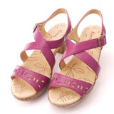 【Kimo德國手工氣墊鞋】素色創意鏤空設計款高跟涼鞋-魅惑紫(K14SF067049)