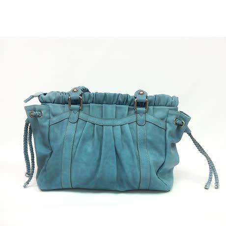 金安德森 側抽繩手提包-水藍-friDay購物
