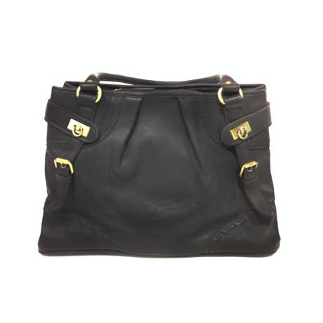 金安德森 扣環手提包-黑-friDay購物