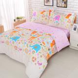 【夢工場】粉妙樂園 加大精梳棉被套床包組